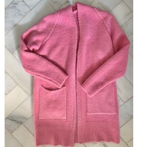 Pink warm sweater cardigan